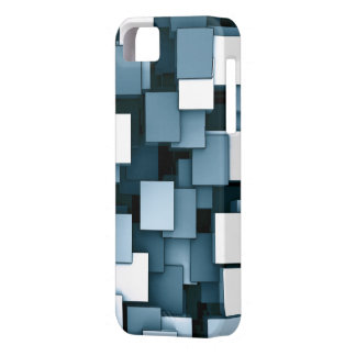 Abstract Futuristic Blue Cube Voxel Pattern iPhone SE/5/5s Case