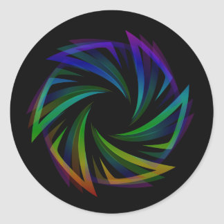 Abstract futuristic design element classic round sticker