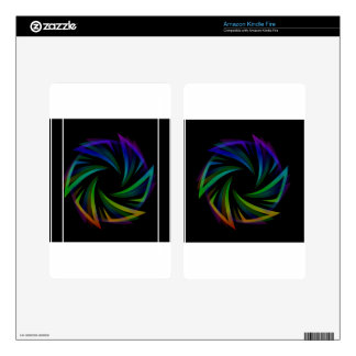 Abstract futuristic design element decal for kindle fire