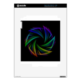 Abstract futuristic design element decals for iPad 2