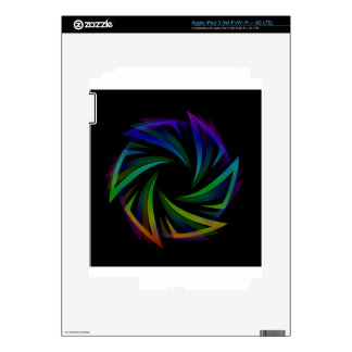 Abstract futuristic design element decals for iPad 3
