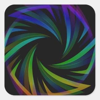 Abstract futuristic design element square sticker