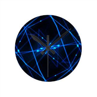 abstract futuristic design round wall clock
