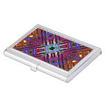 Abstract Futuristic Fractal Art Business Card Case