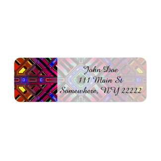 Abstract Futuristic Fractal Art Label