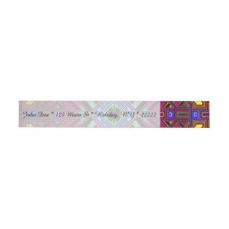 Abstract Futuristic Fractal Art Wraparound Address Label