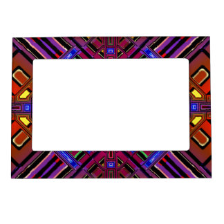 Abstract Futuristic Fractal Picture Frame Magnets