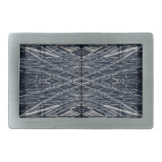 Abstract futuristic pattern belt buckle