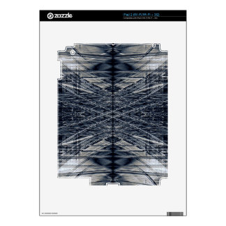 Abstract futuristic pattern decals for iPad 2
