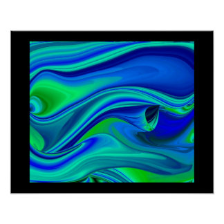 abstract, futuristically on black poster