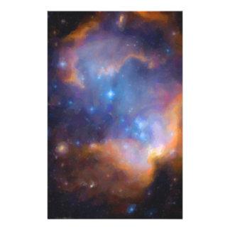 abstract galactic nebula no 2 stationery
