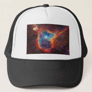 Abstract Galactic Nebula with cosmic cloud 4 Trucker Hat