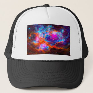 Abstract Galactic Nebula with cosmic cloud 7   24x Trucker Hat