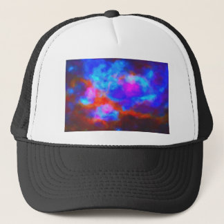 Abstract Galactic Nebula with cosmic cloud 7a   24 Trucker Hat