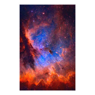 Abstract Galactic Nebula with cosmic cloud Stationery