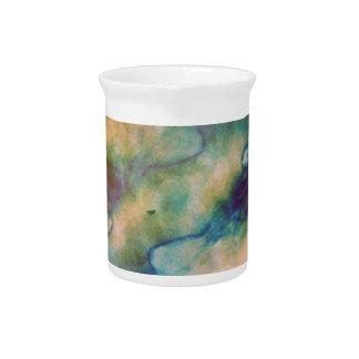 Abstract Galaxy Marbleized Art Beverage Pitcher