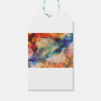 Abstract Galaxy Marbleized Art Gift Tags
