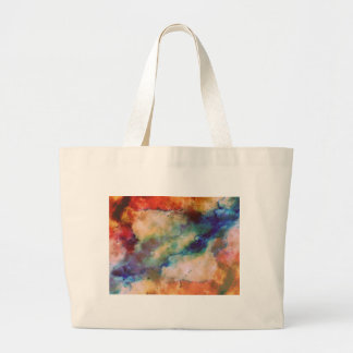 Abstract Galaxy Marbleized Art Large Tote Bag