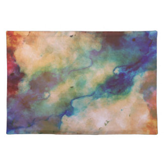Abstract Galaxy Marbleized Art Placemat