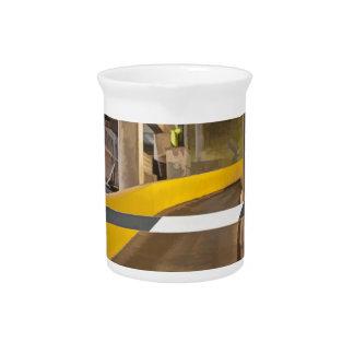 Abstract Garage Drink Pitcher