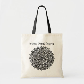 Abstract Garden Flower Mandala Color Me Tote