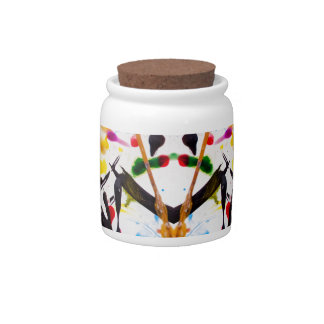 Abstract Garden in Reflection Candy Jars