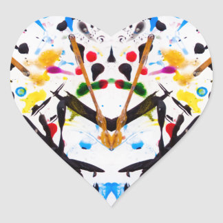 Abstract Garden in Reflection Heart Sticker