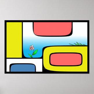 Abstract garden poster