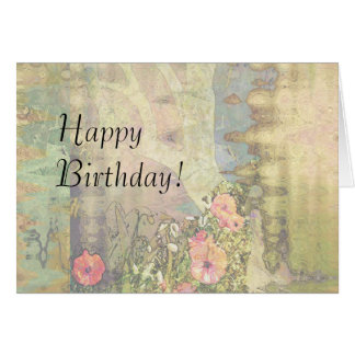 Abstract Garden View Greeting Card