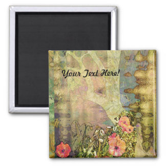 Abstract Garden View Magnet
