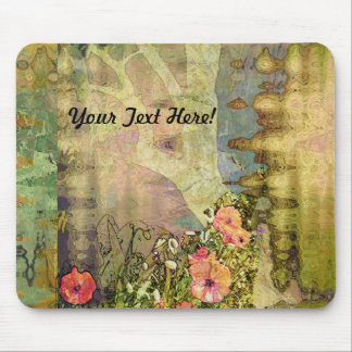 Abstract Garden View Mouse Pads