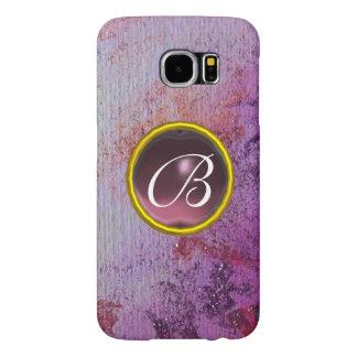 ABSTRACT GEM MONOGRAM purple Samsung Galaxy S6 Cases