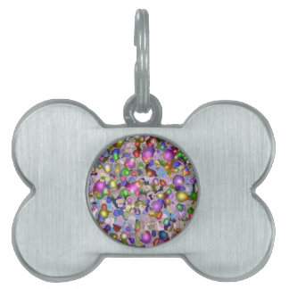 Abstract gems. pet ID tags