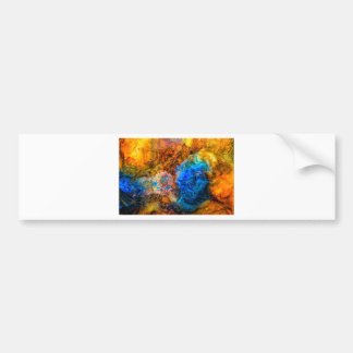 Abstract Gemstone texture colorful painting Bumper Sticker