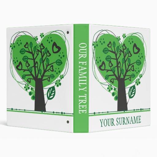 Abstract Genealogy Family Tree Binder Binders