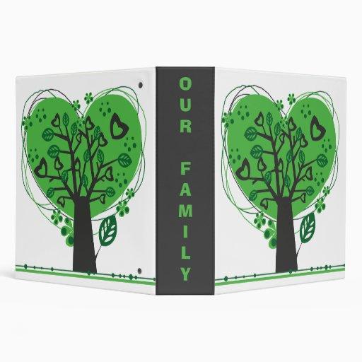 Abstract Genealogy Family Tree Binder Vinyl Binder