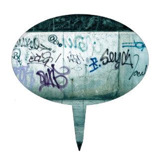 Abstract Geneva Graffiti Cake Picks