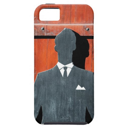 Abstract Gentleman Suit Silhouette iPhone 5 Cover