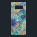 """Abstract Geologic Crystal Pattern Blue Green Gold Case-Mate Samsung Galaxy S8 Case<br><div class=""""desc"""">We love this dreamy abstract pattern of turquoise,  blue,  green and orange that resembles crystal formations and unicorn horns.</div>"""