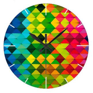 abstract geometric art large clock
