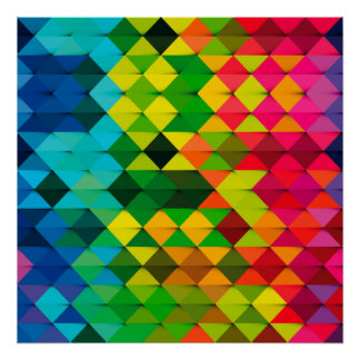 abstract geometric art poster