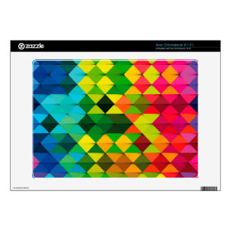 abstract geometric art skins for acer chromebook