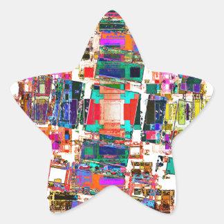Abstract Geometric Art Star Sticker