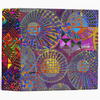 abstract geometric artwork 3 ring binder