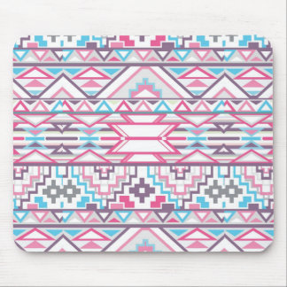 Abstract Geometric Aztec Pattern 3 Mouse Pad