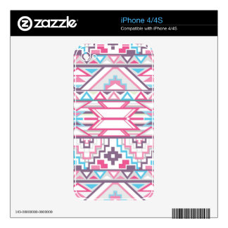Abstract Geometric Aztec Pattern 3 Skin For The iPhone 4
