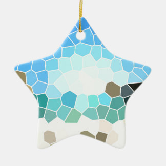 Abstract geometric background ceramic ornament