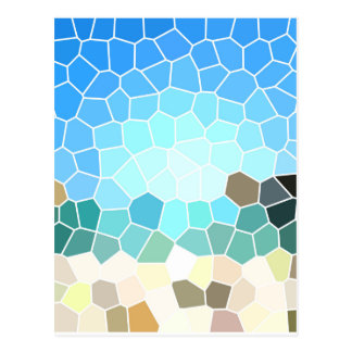 Abstract geometric background postal