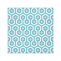 Abstract Geometric Beehive Pattern Canvas Print