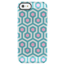 Abstract Geometric Beehive Pattern Clear iPhone SE/5/5s Case